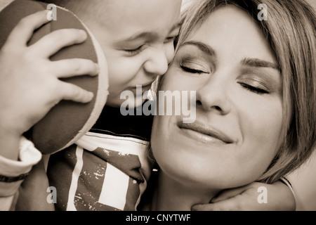 Mère avec enfant Banque D'Images