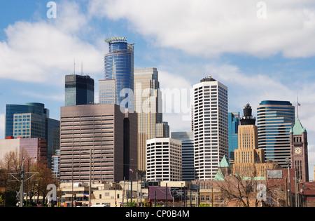 Toits de Minneapolis Minnesota USA Banque D'Images