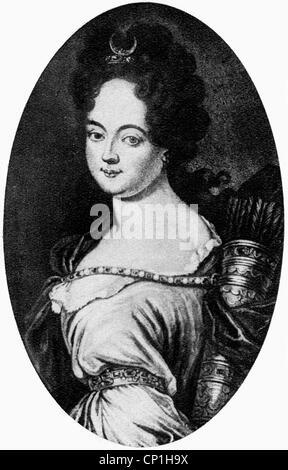 Koenigsmarck, Maria Aurora Comtesse de, 28.8.1662 - 16.2.1728, l'auteur allemand / écrivain, maîtresse de l'électeur Banque D'Images