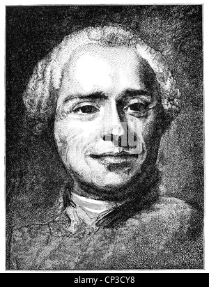Jean-Baptiste le Rond D'Alembert, ou, 1717 - 1783, un mathématicien, physicien, philosophe des Lumières, et éditeur Banque D'Images