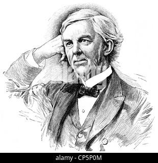 Oliver Wendell Holmes Sr., 1809 - 1894, un médecin américain et écrivain, Banque D'Images
