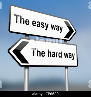 Choisissez le chemin. Banque D'Images