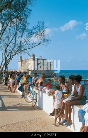 CUBA LA HAVANE Cojimar CONTEXTE DE LA FORTERESSE St Dorothy Banque D'Images