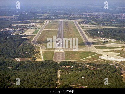 Juin 1986 Historique Vue aérienne de Greenham Common l'ancien aérodrome militaire de Berkshire où les manifestants Banque D'Images