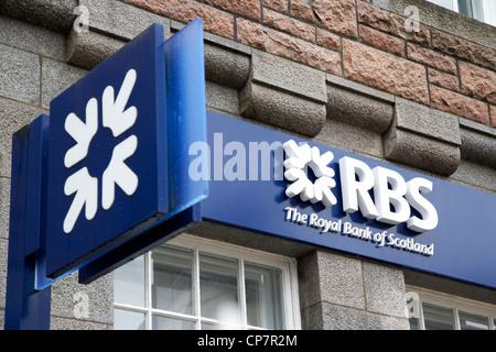 Rbs Royal Bank of Scotland succursale bancaire à fort William Scotland UK Banque D'Images