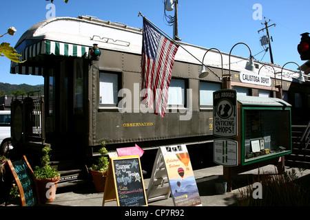 Dépôt de CALISTOGA CALISTOGA NAPA VALLEY CALIFORNIA USA 06 Octobre 2011 Banque D'Images