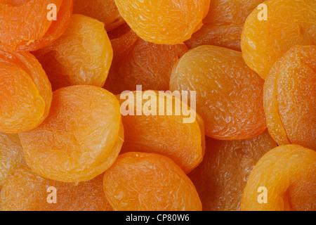Doux et délicieux abricots secs Banque D'Images