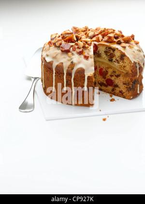Gâteau de Simnel Banque D'Images