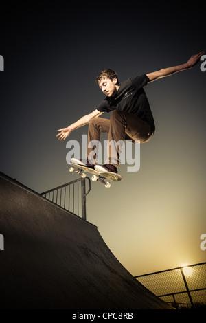 Skateur Banque D'Images