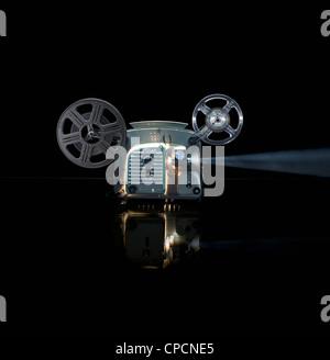 Projecteur de film brillant avec reel Banque D'Images