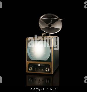 Projecteur de film avec des chaînes Banque D'Images