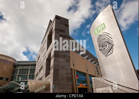 Le musée Te Papa à Wellington, Île du Nord, Nouvelle-Zélande, Pacifique Banque D'Images