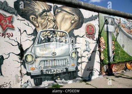 East Side Gallery, Musée du Mur de Berlin, Berlin, Germany, Europe Banque D'Images