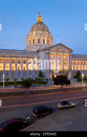 L'hôtel de ville, Civic Center Plaza, San Francisco, Californie, États-Unis d'Amérique, Amérique du Nord