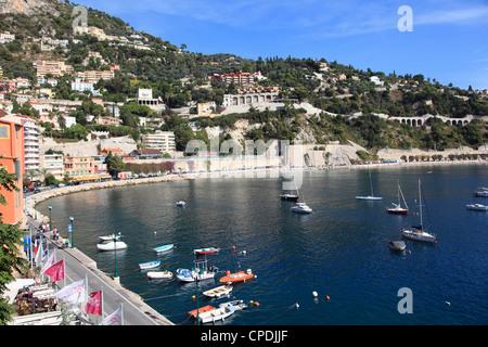 Port, Villefranche sur Mer, Alpes Maritimes, Côte d'Azur, French Riviera, Provence, France, Europe Banque D'Images