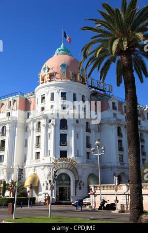 Hôtel Negresco, Promenade des Anglais, Nice, Alpes Maritimes, Côte d'Azur, French Riviera, Provence, France, Europe Banque D'Images