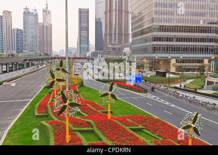 New Century Boulevard, Pudong, Shanghai, Chine, Asie Banque D'Images
