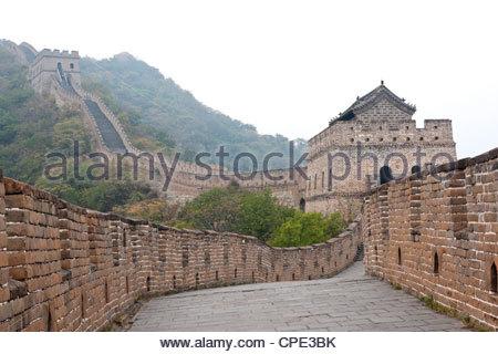 Grande Muraille de Chine, Site du patrimoine mondial de l'UNESCO, Mutianyu, China, Asia Banque D'Images