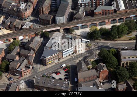Vue aérienne de Haute Cour, Leeds Banque D'Images
