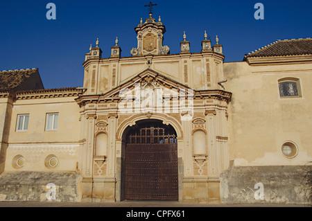 L'Espagne. L'Andalousie. Séville. Île de la Chartreuse. Monastère Notre Dame de la grotte. Banque D'Images