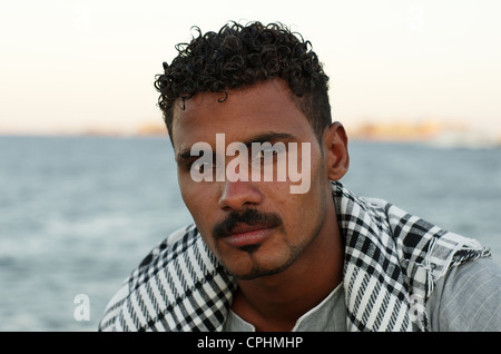 Portrait d'homme arabe égyptien, Hurghada, Egyp, Afrique Banque D'Images