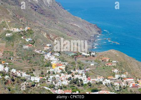 Taganana village sur la côte dans la région des montagnes d'Anaga de Tenerife, Canaries, Espagne Banque D'Images