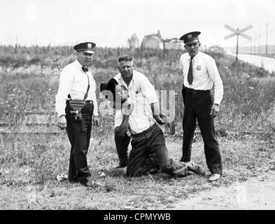 Les lynchages aux Etats-Unis sur un homme noir Banque D'Images