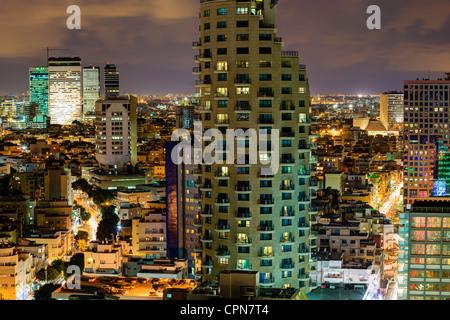 Moyen-orient, Israël, Tel Aviv, augmentation de la vue sur la ville vers le centre commercial et d'affaires Banque D'Images