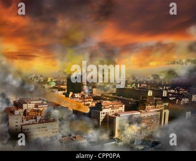 Apocalypse armageddon twang dans la ville Banque D'Images