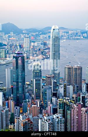 Beau Port de Hong Kong de la pointe, Banque D'Images