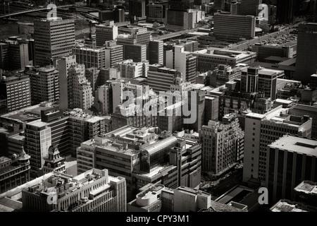 """Rues de la région de Johannesburg, Afrique du Sud. Prises dans le haut de l'Afrique"""" le Carlton Centre, plus haut bâtiment de l'Afrique"""