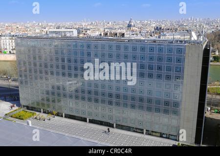 France, Paris, Institut du Monde Arabe (Institut du Monde Arabe) par l'architecte Jean Nouvel et Architecture-studio Banque D'Images