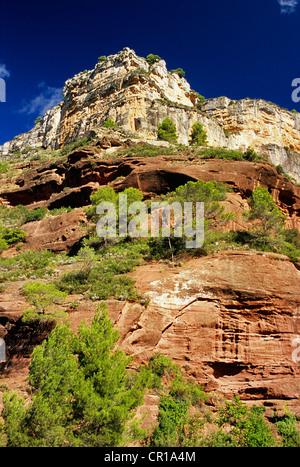 Espagne, Catalogne, province de Tarragone, Priorat comarca, formations rocheuses du massif de la serra de Montsant Banque D'Images