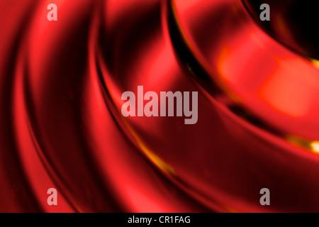Gros plan du verre coloré. Abstract image prise avec un objectif macro à fort grossissement. Banque D'Images