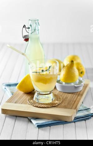 Limonade fait maison courge Citron Banque D'Images