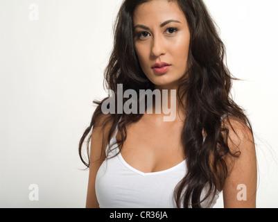 Belle asiatique femme américaine dans la vingtaine Banque D'Images