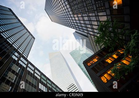 Les bâtiments de grande hauteur, Park Avenue, Manhattan, New York, USA, Amérique Latine Banque D'Images