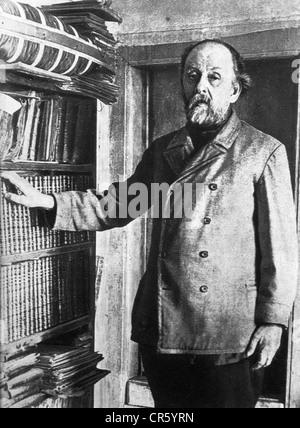 Tsiolkovskii, Konstantin Eduardovich, 17.9.1857 - 19.9.1935, Physicien, mathématicien russe, pionnier de la théorie Banque D'Images
