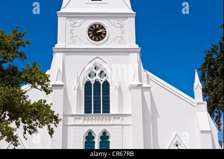 L'Afrique du Sud, Western Cape, sur la route des vins, Stellenbosch, le Moederkerk, Église réformée hollandaise