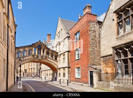 Le Pont des Soupirs ou le nouveau pont de Hertford College, Oxford Oxfordshire England UK GB EU Europe Banque D'Images