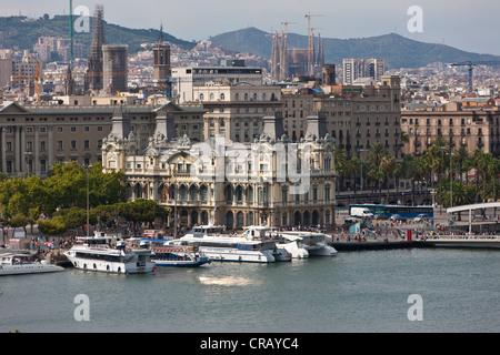 Autorité Portuaire de Barcelone, Catalogne, Espagne, Europe, PublicGround Banque D'Images