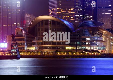 Hong Kong Convention and Exhibition Centre, du HKCEC, l'île de Hong Kong, Hong Kong, Chine, Asie, Chine Banque D'Images