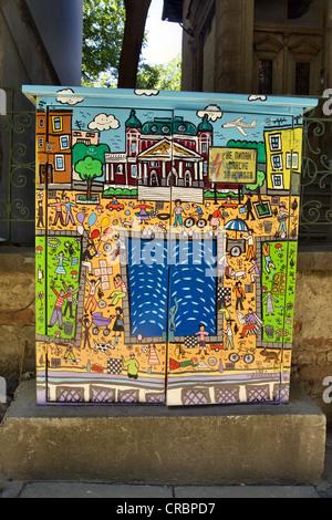 Scènes de Sofia sur l'électricité Graffiti fort à Sofia, Bulgarie Banque D'Images