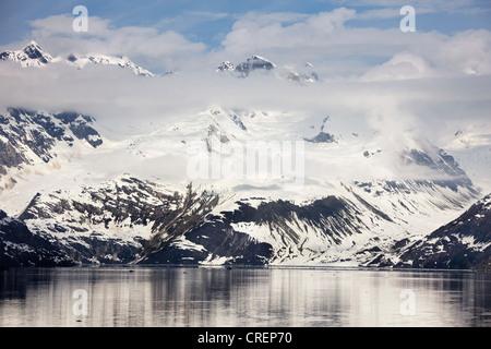 Glacier Topeka entrant d'entrée d'université Johns Hopkins, Glacier Bay National Park, Alaska Banque D'Images