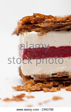 Close up of ice cream cake Banque D'Images