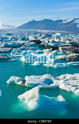 Iceberg jökulsárlón Lagoon Iceland eu Europe Banque D'Images