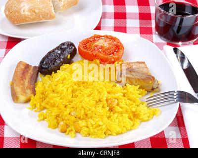 Arroz al Horno - riz cuit au four Banque D'Images