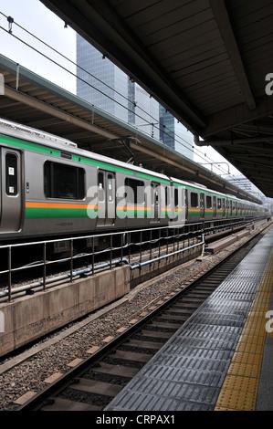 Yanamote train ligne Tokyo Japon Banque D'Images