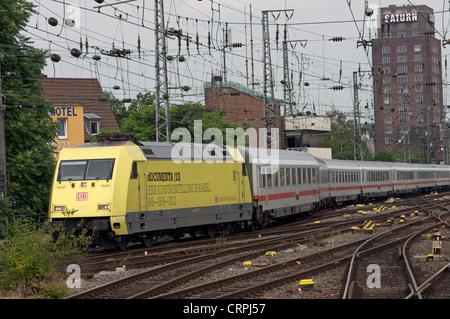 Locomotive des chemins de fer allemands (13) Publicité exposition documenta Banque D'Images