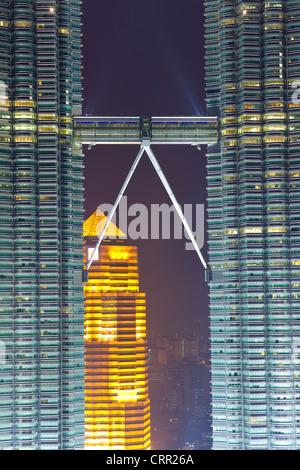 La Malaisie, Kuala Lumpur, vue sur le centre ville de Kuala Lumpur (KLCC) et des Tours Petronas Banque D'Images
